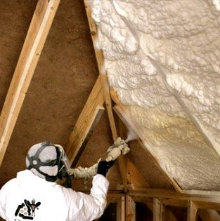 Spray Foam insulation from Advanced Insulation.